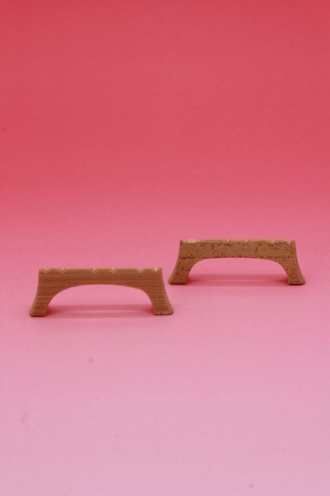 Rokushin(six strings sanshin) Bamboo bridge - 2 pieces set