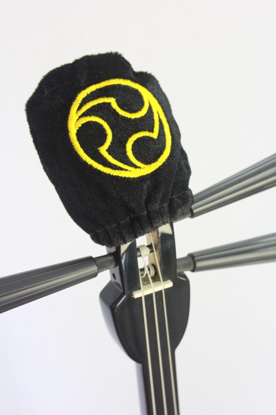 Sanshin Head cover- Hidari Gomon - Black