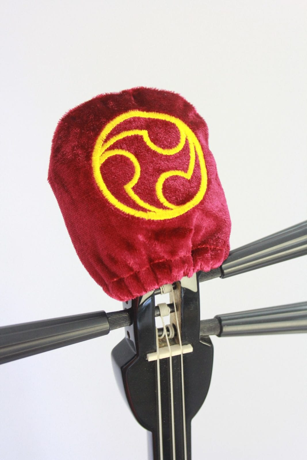 Sanshin Head cover- Hidari Gomon - Red
